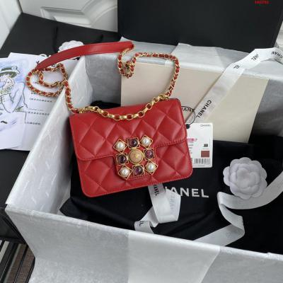 Chanel 2020 秋冬款 AS1889 coco king dom 包包 缟玛瑙 珍珠 金色金属扣 size 14*17.5*10cm