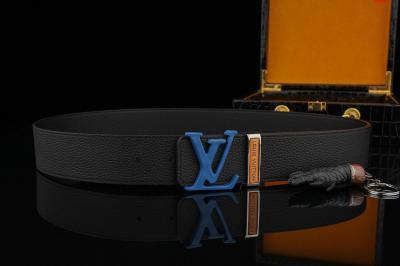 LV专柜新款钢扣 搭配经典头层荔枝纹带身 双面可用 原单品质男款4.0cm精心制作 高端大气送礼自用佳品 赠送 木盒包装 真鳄鱼爪一只