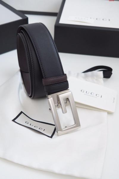 Gucci.古驰全套包装 古奇官网经典正品规格 3.5cm原版品质头层双面牛皮G旋转扣