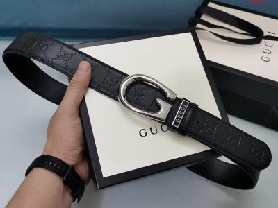 Gucci.古驰全套包装 3.8cm进口小牛皮压花  专柜正品1:1完美复刻. 原版底皮  采用热压印技术的Gucci Signature皮革精制而成 触感厚实 印花图案清晰.