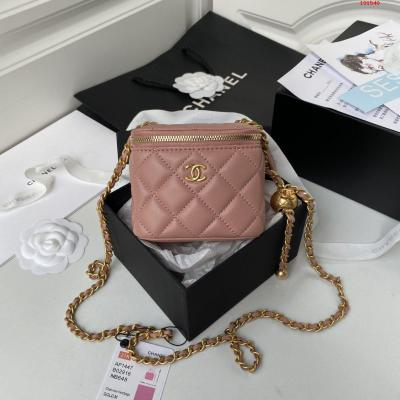 Chane1 型号AP1447 化妆小盒子 小型收纳盒 原版五金 进口羊皮 小金球可调节链条长度 上身效果超赞 尺寸 11*8.5*7